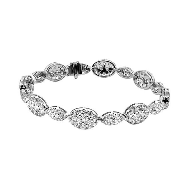18k White Gold 7.25ctw Dvani Diamond Bracelet Robert Irwin Jewelers Memphis, TN