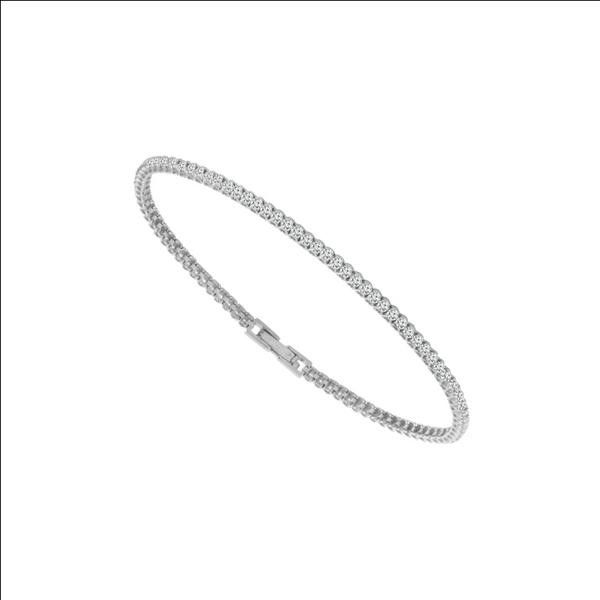14k White Gold 0.75ctw Diamond Flexible Bracelet Robert Irwin Jewelers Memphis, TN
