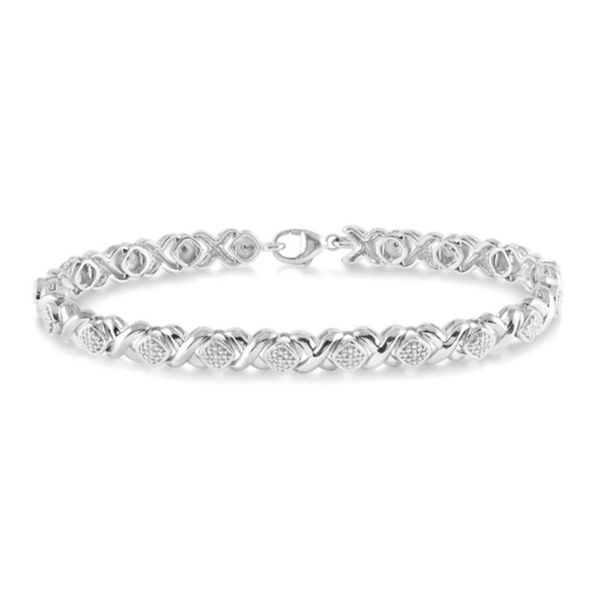 Sterling Silver 1/10ctw Diamond Tennis Bracelet Robert Irwin Jewelers Memphis, TN
