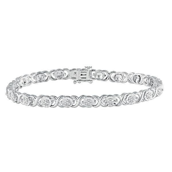 Sterling Silver 1/4 Carat Diamond Bracelet Robert Irwin Jewelers Memphis, TN