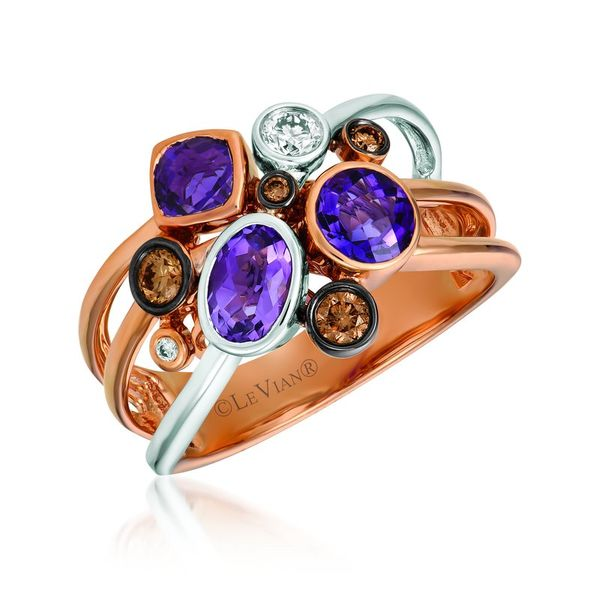 Le Vian Chocolatier® Ring featuring 1 ctw. Grape Amethyst™, 1/6 ctw. Chocolate Diamonds®, 1/10 ctw. Vanilla Diamonds® set i Robert Irwin Jewelers Memphis, TN