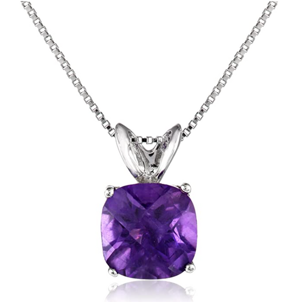 Sterling Silver Lab Created Amethyst Pendant Robert Irwin Jewelers Memphis, TN