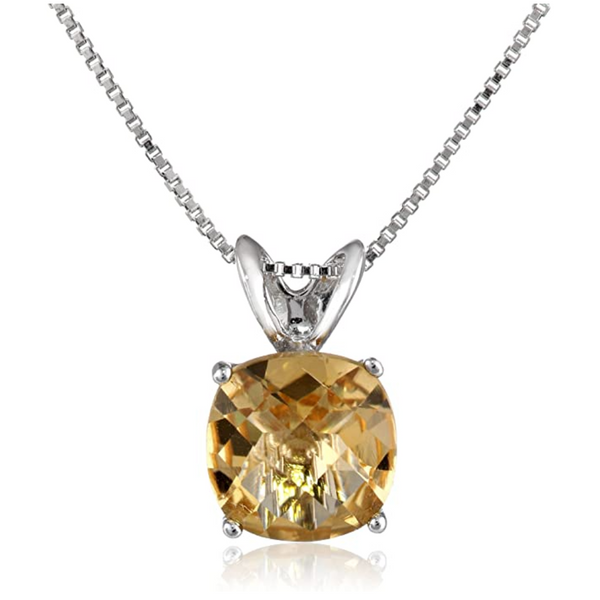 Sterling Silver Lab Created Citrine Pendant Robert Irwin Jewelers Memphis, TN