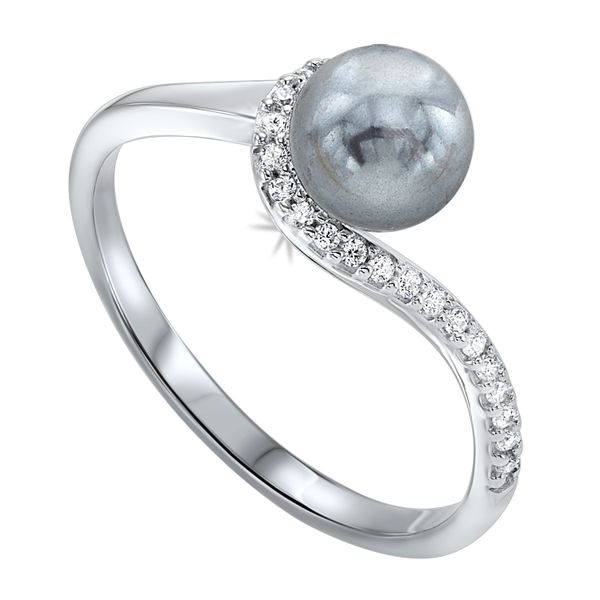 Sterling Silver Pearl and CZ Ring Robert Irwin Jewelers Memphis, TN