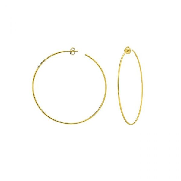 14k Yellow Gold Large Hoop Earrings Robert Irwin Jewelers Memphis, TN
