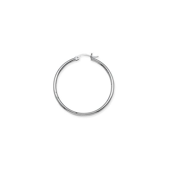 10k White Gold 35mm Hoop Earrings Robert Irwin Jewelers Memphis, TN
