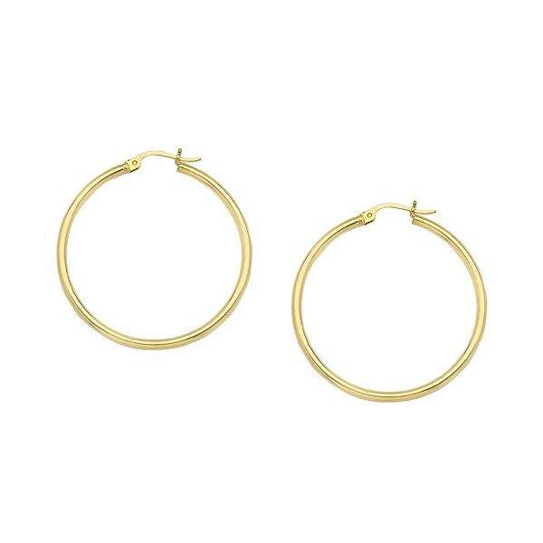 14k Yellow Gold 20mm Hoop Earrings Robert Irwin Jewelers Memphis, TN