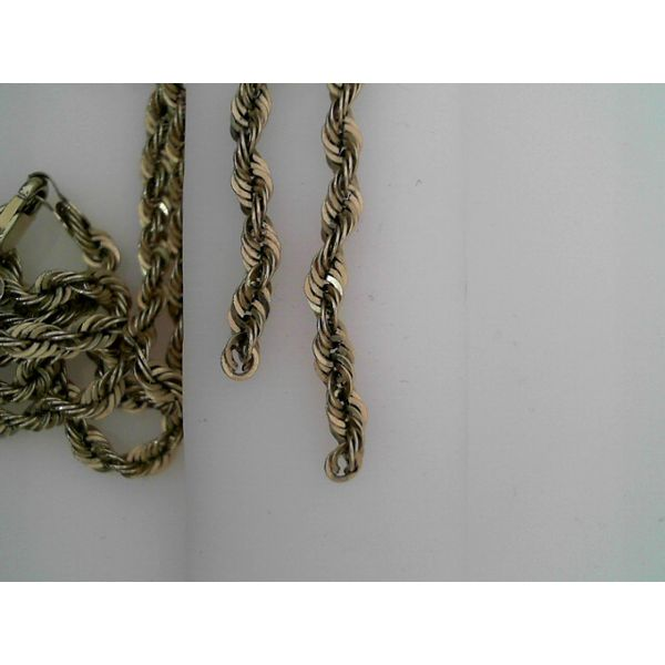 10k Yellow Gold 22 Inch 3.2mm Sparkle Rope Chain Robert Irwin Jewelers Memphis, TN
