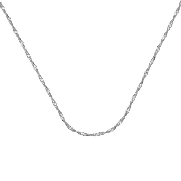 10k White Gold 20 Inch 1.4mm Singapore Chain With Spring Clasp Robert Irwin Jewelers Memphis, TN
