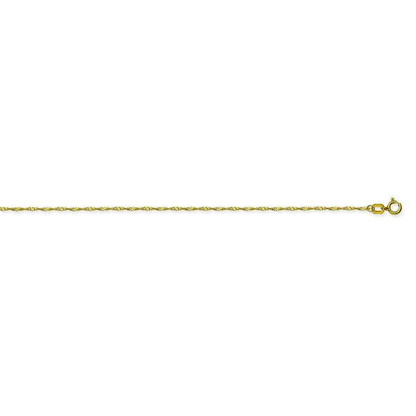 14k Yellow Gold 20 Inch 1mm Singapore Chain Robert Irwin Jewelers Memphis, TN