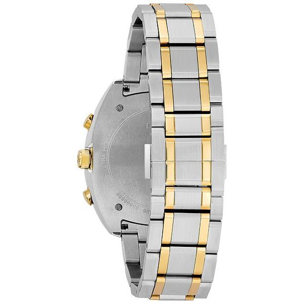 Bulova Men's Chronograph Two-Tone Stainless Steel Bracelet Watch Image 3 Robert Irwin Jewelers Memphis, TN