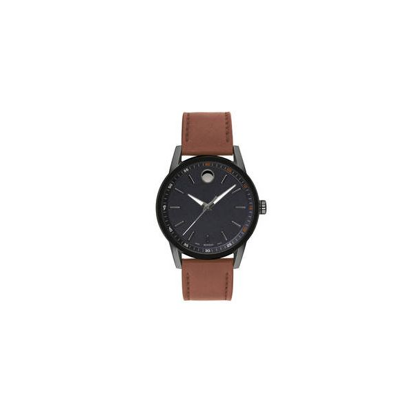 Movado Museum Black Dial Cognac Leather Men's Watch Robert Irwin Jewelers Memphis, TN