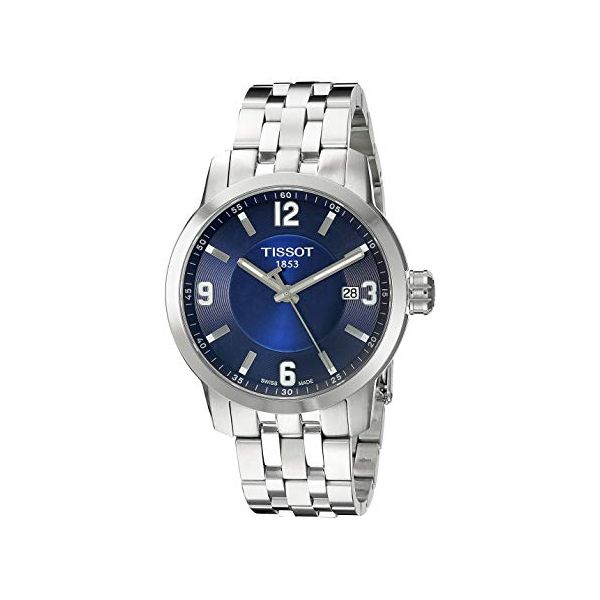 Tissot PRC 200 Quartz Blue Dial Stainless Steel Sport Men's Watch Robert Irwin Jewelers Memphis, TN