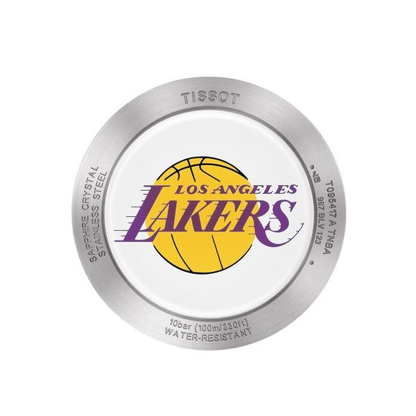 Tissot Quickster Lakers NBA Special Edition Silver Dial Men's Watch Image 2 Robert Irwin Jewelers Memphis, TN
