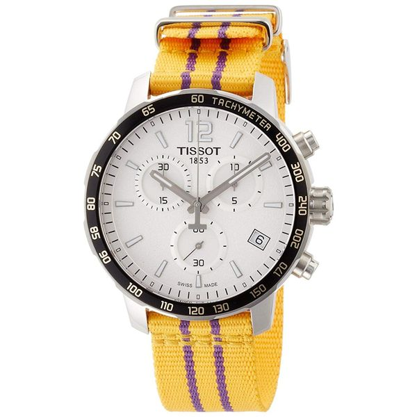 Tissot Quickster Lakers NBA Special Edition Silver Dial Men's Watch Robert Irwin Jewelers Memphis, TN