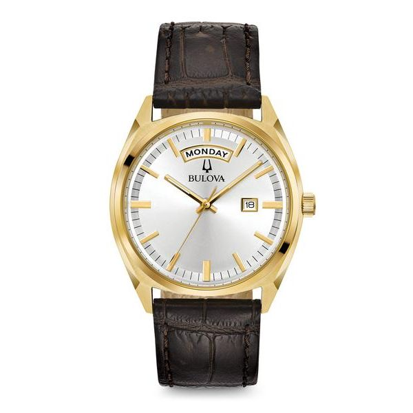 Bulova Men's Classic Quartz Stainless Steel Leather Strap Casual Watch Robert Irwin Jewelers Memphis, TN