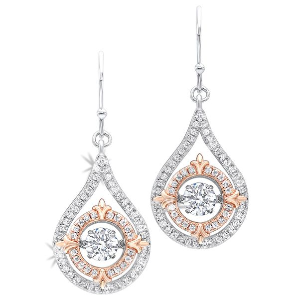 Sterling Silver and CZ Dangle Earrings Robert Irwin Jewelers Memphis, TN