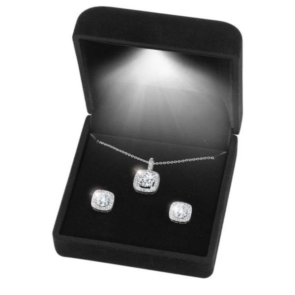 Sterling Silver CZ Pendant and Earring Gift Set Robert Irwin Jewelers Memphis, TN