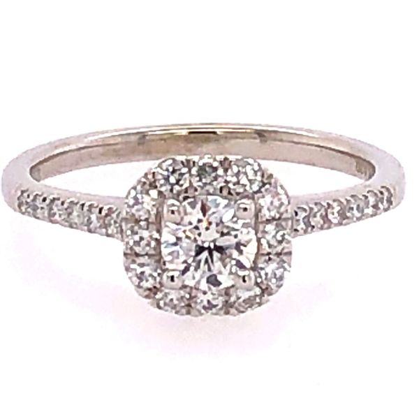 Rolland's Design 14K White Gold Diamond Engagement Ring Image 2 Rolland's Jewelers Libertyville, IL