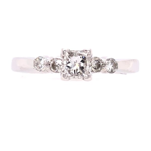 Estate 14K White Gold Princess Cut Diamond Engagement Ring Rolland's Jewelers Libertyville, IL