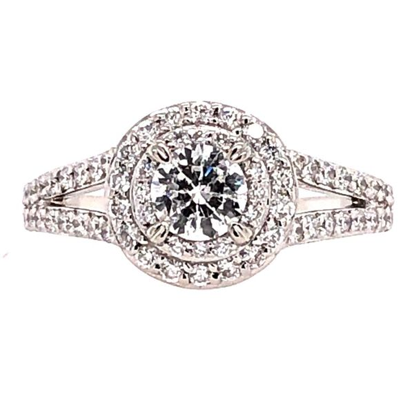 Estate 14K White Gold Diamond Engagement Ring Rolland's Jewelers Libertyville, IL