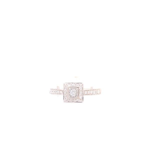 Estate 18K White Gold Diamond Engagement Ring Rolland's Jewelers Libertyville, IL