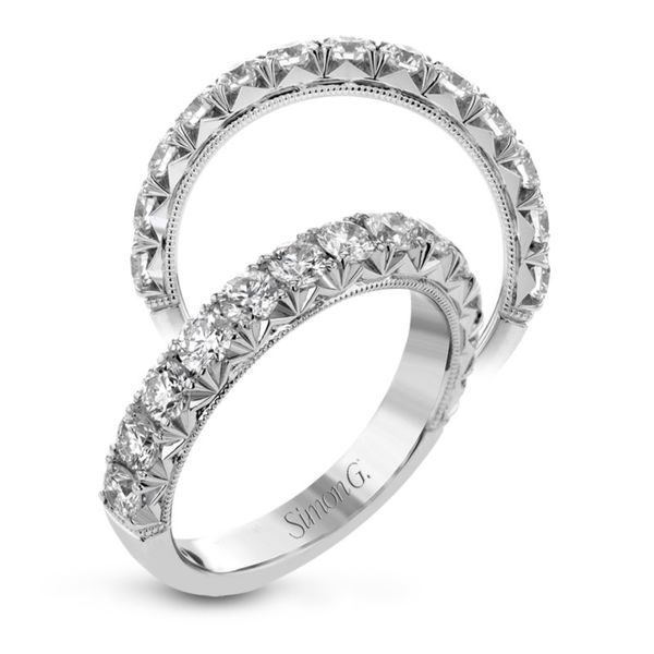 Simon G. Diamond Wedding Band Image 2 Rolland's Jewelers Libertyville, IL