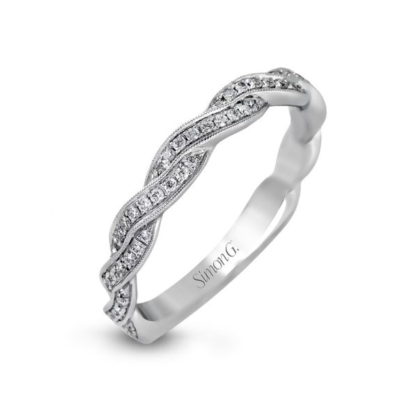 Simon G. Diamond Criss Cross Wedding Band Rolland's Jewelers Libertyville, IL
