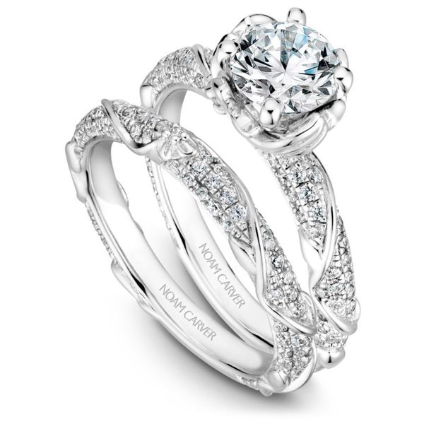 Noam Carver Floral Diamond Wedding Band Image 2 Rolland's Jewelers Libertyville, IL