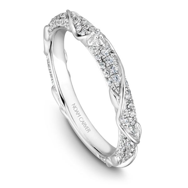 Noam Carver Floral Diamond Wedding Band Rolland's Jewelers Libertyville, IL