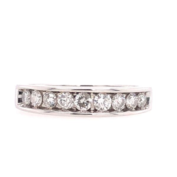 Estate 14k White Gold Channel Set Diamond Wedding Band Rolland's Jewelers Libertyville, IL