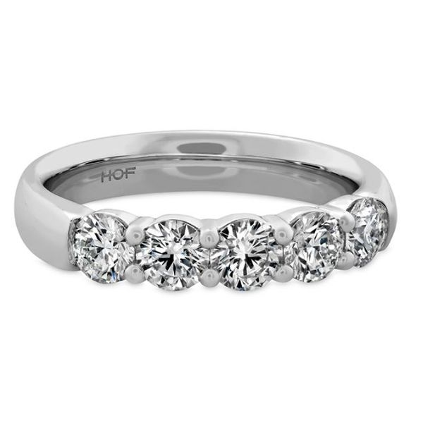 Hearts On Fire 5 Stone Wedding Band Rolland's Jewelers Libertyville, IL