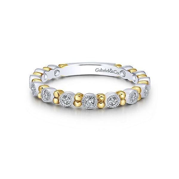 Gabriel Diamond Beaded Spacers Ring Rolland's Jewelers Libertyville, IL