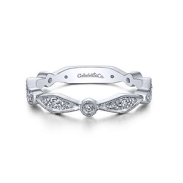 Gabriel Diamond Stackable Ring Rolland's Jewelers Libertyville, IL