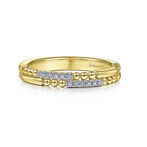 Gabriel Two Row Diamond Stackable Ring Rolland's Jewelers Libertyville, IL