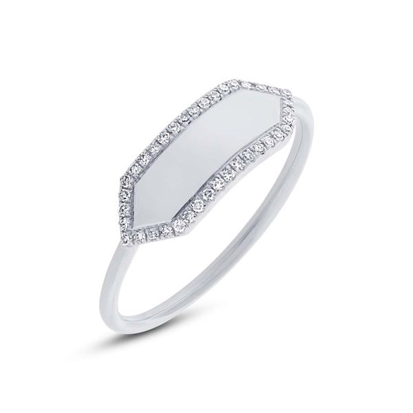 Rolland's Design Diamond Bar Ring Rolland's Jewelers Libertyville, IL