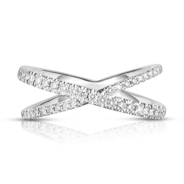 Roberto Coin Criss Cross Diamond Ring Rolland's Jewelers Libertyville, IL