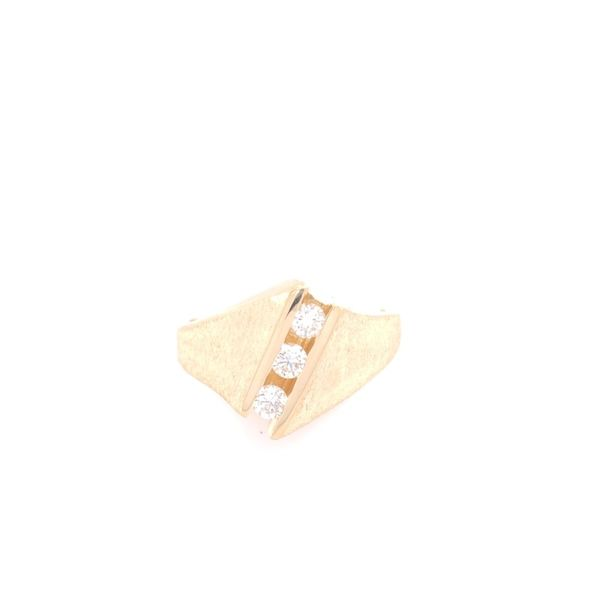Estate 14K Yellow Gold Ring With Sandpaper Finish Rolland's Jewelers Libertyville, IL