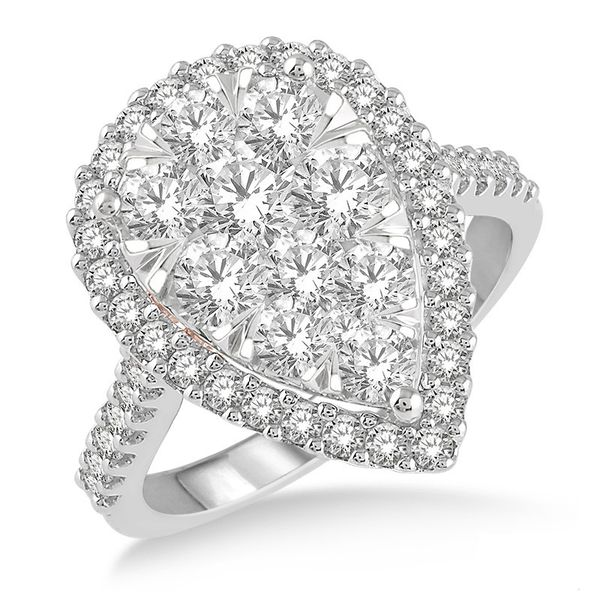 Pear Shaped Diamond Cluster Ring Rolland's Jewelers Libertyville, IL
