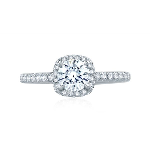 A. Jaffe Diamond Halo Setting Rolland's Jewelers Libertyville, IL