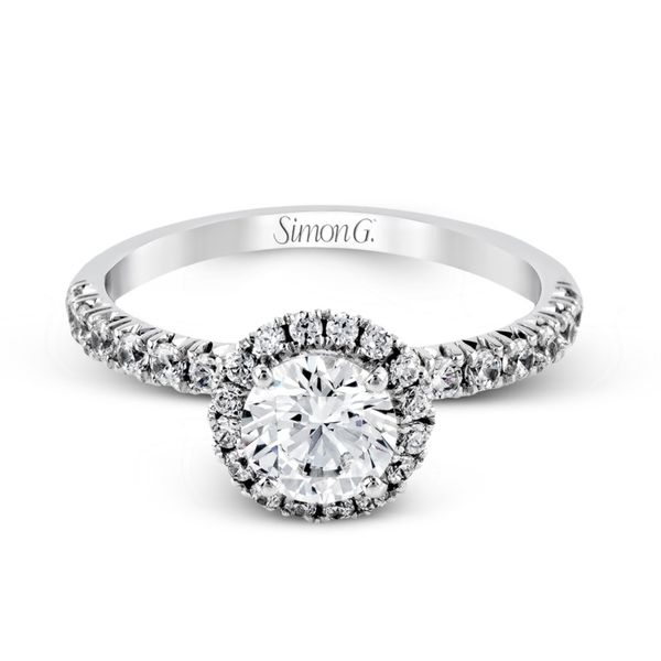 Simon G. Diamond Halo Setting Image 2 Rolland's Jewelers Libertyville, IL