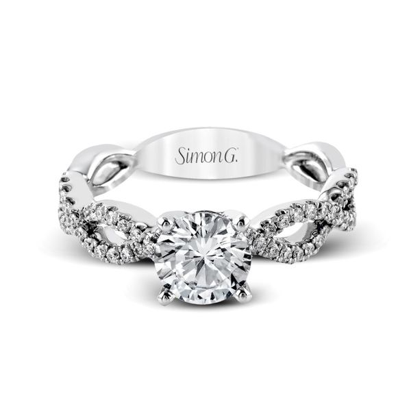 Simon G. Diamond Criss Cross Setting Image 2 Rolland's Jewelers Libertyville, IL