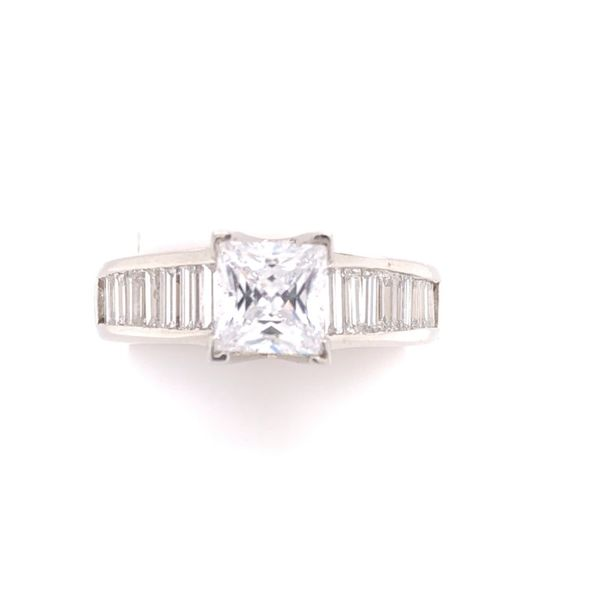 Estate Platinum Diamond Setting Rolland's Jewelers Libertyville, IL