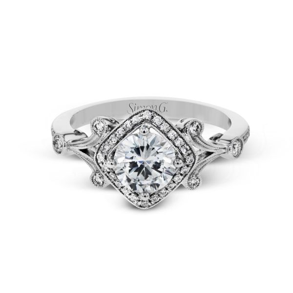 Simon G. Diamond Vintage Halo Setting Image 2 Rolland's Jewelers Libertyville, IL