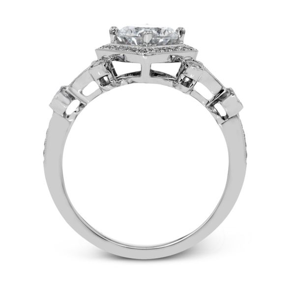 Simon G. Diamond Vintage Halo Setting Image 3 Rolland's Jewelers Libertyville, IL