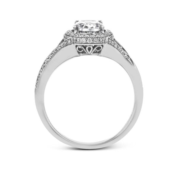 Simon G. Diamond Halo Setting Image 3 Rolland's Jewelers Libertyville, IL