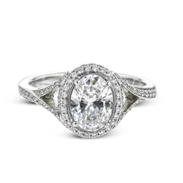 Simon G. Diamond Halo Setting Rolland's Jewelers Libertyville, IL