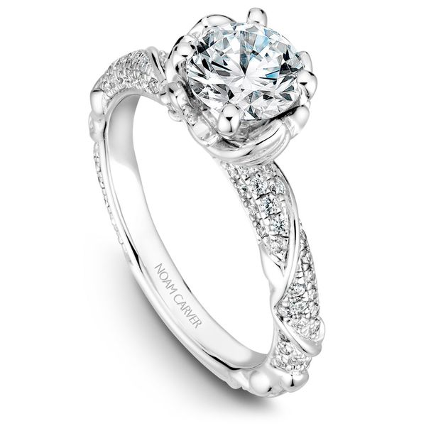 Noam Carver Floral Diamond Setting Rolland's Jewelers Libertyville, IL