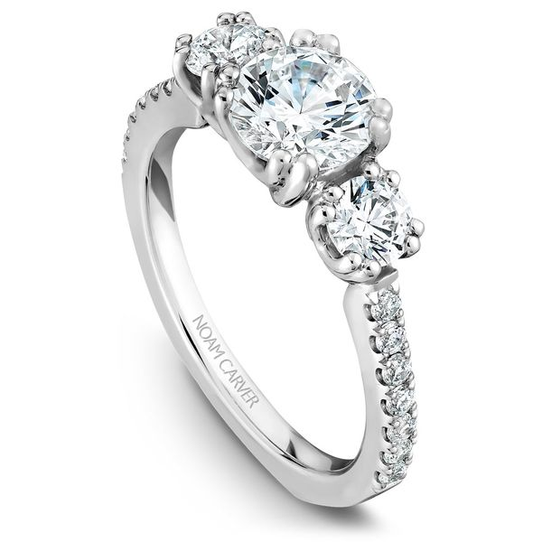 Noam Carver Three Stone Diamond Setting Rolland's Jewelers Libertyville, IL