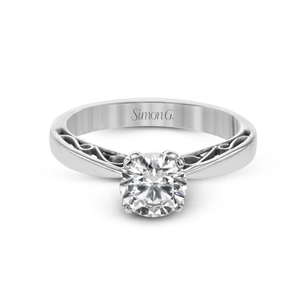 Simon G. Filigree Accented Solitaire Setting Image 2 Rolland's Jewelers Libertyville, IL